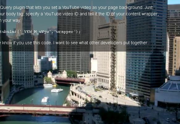 背景にフルスクリーンで動画を流す「jquery-tubular」