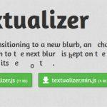 テキストをアニメーション風にお洒落に切り替えるjQueryプラグイン「textualizer」