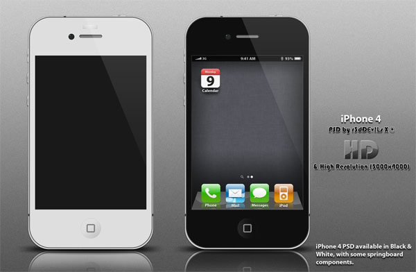 iPhone、iPadやMacなどのディスプレイを集めたPhotoshop(フォトショップ)端末ディスプレイPSD無料素材集-iPhone4