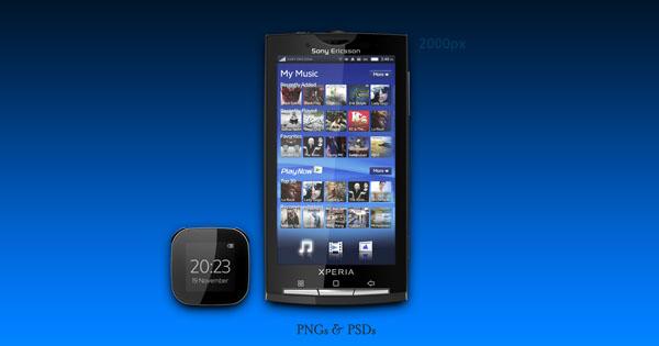 iPhone、iPadやMacなどのディスプレイを集めたPhotoshop(フォトショップ)端末ディスプレイPSD無料素材集-Sony Xperia