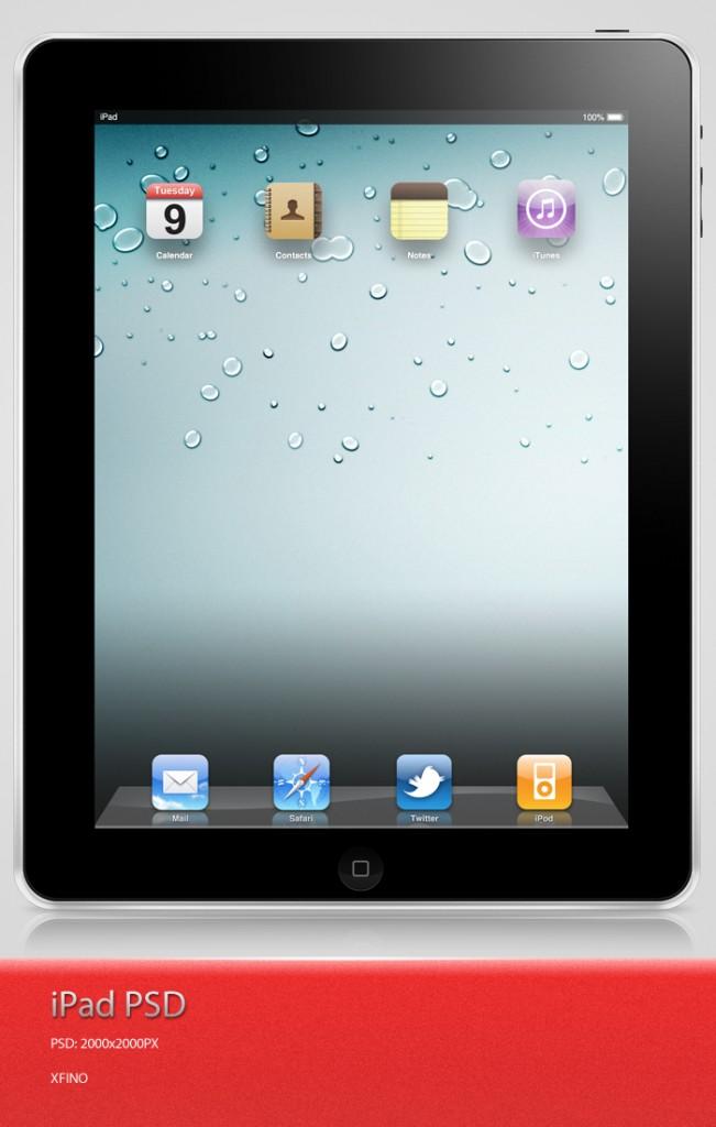 iPhone、iPadやMacなどのディスプレイを集めたPhotoshop(フォトショップ)端末ディスプレイPSD無料素材集-iPad