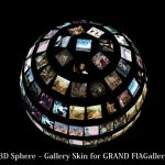 WordPress用3D立体画像ギャラリーを実現する 『3D Sphere – Gallery Skin for GRAND FlAGallery Plugin』