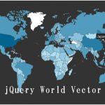 お洒落な世界地図を表示するjQueryプラグイン「JQVMap(jQuery Vector Maps)」