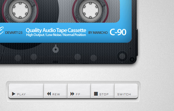 「Old School Cassette Player with HTML5 Audio 」トップ画像
