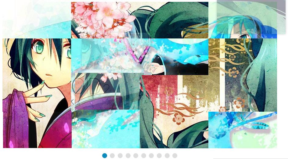 タイル状のエフェクトが美しい画像スライダーjQueryプラグイン「jq-tiles」