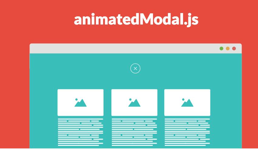 モーダルをフルスクリーンで表示させるjQueryプラグイン「animatedModal.js」