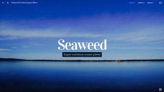 海にダイビングする効果が綺麗なHTMLテンプレート「Above & Beneath」