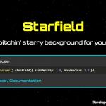 星空を背景にするjQueryプラグイン「jQuery Starfield」