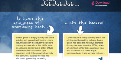 要素からはみ出したテキストを省略してくれるjQueryプラグイン「jQuery.dotdotdot」
